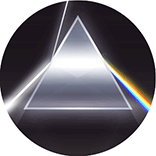 electronics brand logo inspiration: prism refracting light