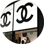shopping mall logo inspiration: luxury fashion monogram logos lettering, like Chanel, Gucci, Louis Vuitton
