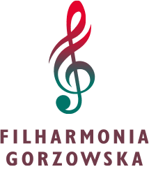 Gorzów Philharmonic monogram logo with treble clef