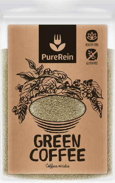 natural craft paper label design for superfood packaging with black hand-drawn green coffee plant illustration